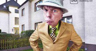 Ein Mann mit Mantel, Hut und ärgerlichem Gesicht zum Thema Ärger mit dem Vermieter