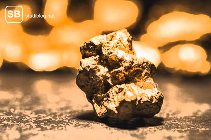 Goldnugget zum Thema Geldanlage für Studenten