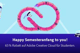 Grafik mit lustige Fantasiefiguren zum Thema Adobe Creativ Cloud für Studenten