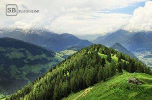 Almwiese mit Bergpanorama zum Artikel Mein Lieblingsort: Draußen im Grünen auf der Almwiese