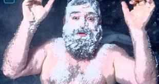 Mann mit nacktem Oberkörper und Vollbart, schaumbedeckt zum Thema warum Menschen nicht so sein können wir sie sind