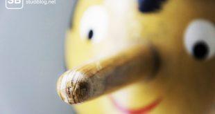 Ein Pinocchio-Gesicht als Symbol zum Thema Linker Mainstream - jede Meinung ist legitim, es kommt darauf an, wie wir sie kommunizieren