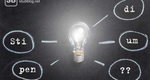 Glühbirne mit leeren Sprechblasen zum Thema Stipendien, eine grobe Übersicht über die Möglichkeiten