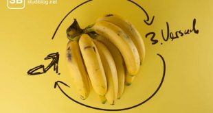 """Bananen mit Text """" Drittversuch """""""