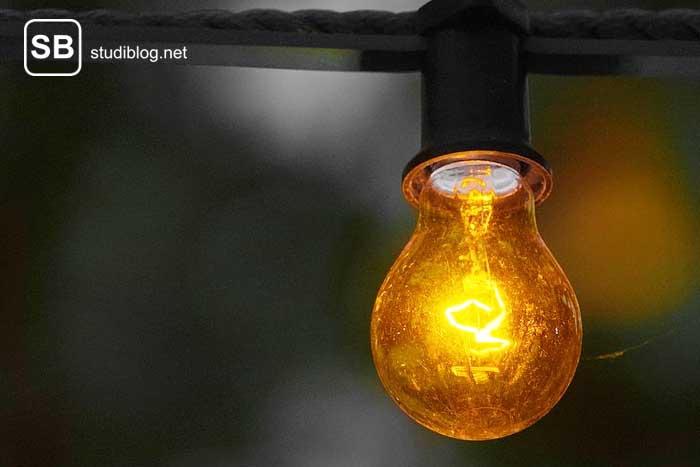 Glühbirne BWL- Student - Reaktion