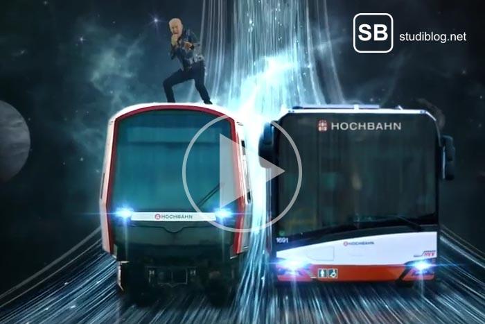 Hamburger Hochbahn mit H. P. Baxxter