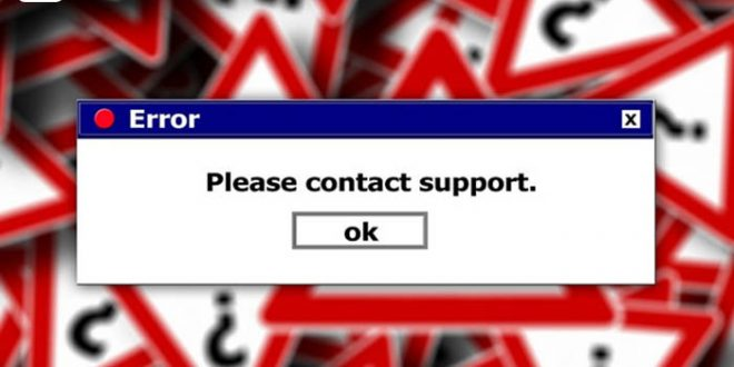 Computer-Problem - Bild mit PC-Fehlermeldung