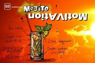 Mojito vs Motivation - Bild eines Mojito-Rezeptes